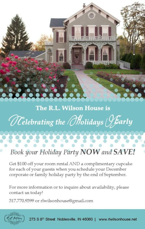 RL Wilson House Holiday 2015 Flyer
