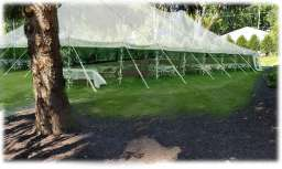 outdoor wedding reception tent noblesville