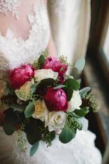 r.l. wilson bridal boquet and bride