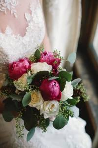 r.l. wilson bridal boquet and bride