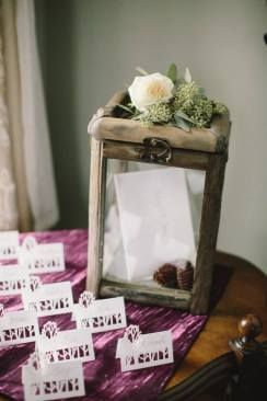 rustic place cards card box